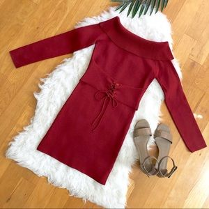 NWT MINKPINK Hold Tight Corset Knit Dress In Spice